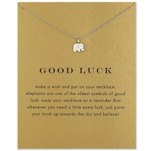Boutique Jewelry - Good Luck Elephant Necklace Silver or Gold